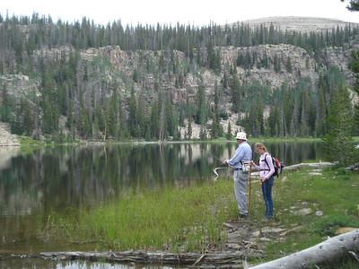 Grandpa and Shaleah at Echo Lake