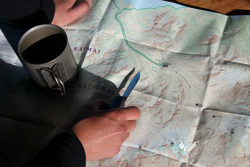 August 2011. Backcountry backpacking should only be done with good planning ahead! Katmai National Park.