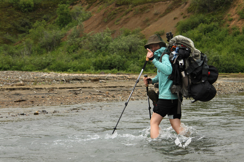 August 2011. Katmai National Park, Backpacking into the Valley of 10,000 Smokes and wading through verrrrry cold water.