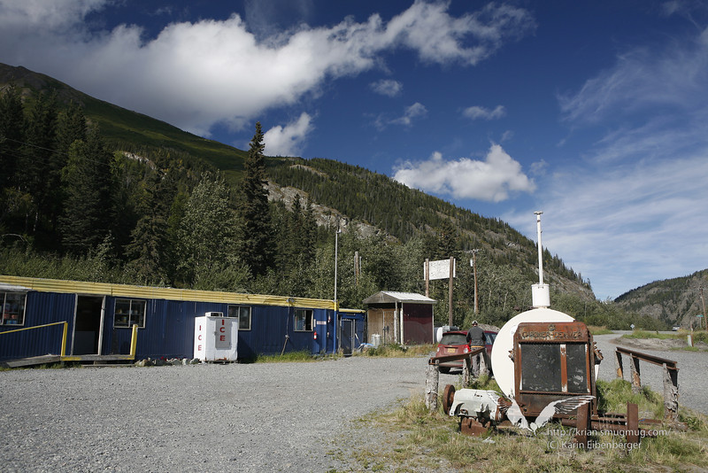 August 2011. A petrol station in Chitina.