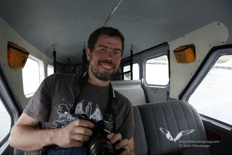 August 2011. Bernhard in the bush plane.