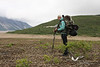 August 2011. Hiking into the Valley of 10,000 Smokes. Katmai National Park.