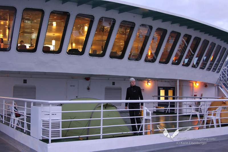 """August 2011. Camping on the Alaska Marine Highway System ferry """"Columbia"""" - riding the Inside Passage from Skagway via Haines - Juneau - Sitka - Wrangell - Petersburg to Ketchikan"""