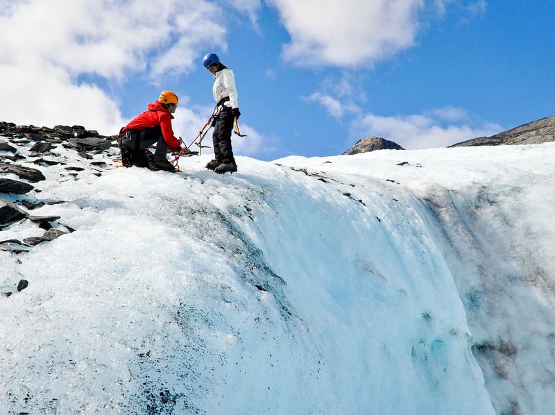 Dropping Into The Moulin - Ice Climbing<br /> Worthington Glacier<br /> Valdez, Alaska<br /> © 2009