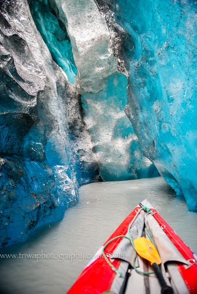 Ice Cave Exploration by Kayak<br /> Valdez Glacier<br /> Valdez, Alaska<br /> © 2014