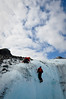 Ice climbing out of a moulin<br /> Worthington Glacier, Thompson Pass, Valdez, Alaska<br /> © 2009