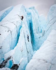 No Way To Go But Up Ice Climbing on the Mantanuska Glacier Mat-Su Valley, Alaska © 2011