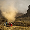 A huge dust devil explodes into action as we approach the Lava Tower. The spectacle lasted mere seconds. The guides told us that although they had seen dust devils here before, they were often only a few meters high. This one was an order of magnitude more intense.