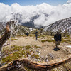 An awesome day hiking Mount Baldy (10,064 ft), the grandest summit of the San Gabriel Mountains, and the third highest massif in Southern California. <br /> <br /> This is a preview of good things to come.<br /> <br /> Seth, Steve and Chris hike it up Mount Baldy's Ski Hut Trail to the summit. Having passed a dauntingly icy north face in the trees, the southern face was pretty clean. Remnants of yesterday's ice storm glittered around us as the ice melted in the midday sun. In the background, thick clouds threatened us in the distance, but it remained pristine and sunny above us for the duration of the hike.