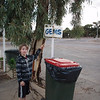Bede rushed to look in this rubbish bin!