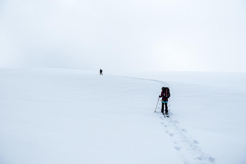 Whiteout on a glacier, Fiona und Niko, Hochwilde, Gurgler Ferner, 2018