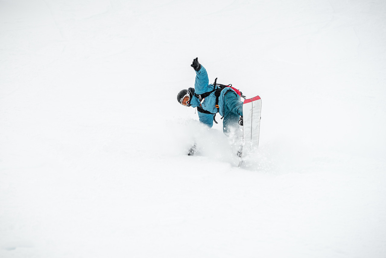 Whiteout powder turns, Kauntertal, Austria 2017, Choice Splitboard Camp