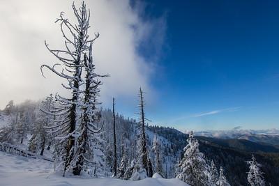 Looking towards the top of Wrangler Gap