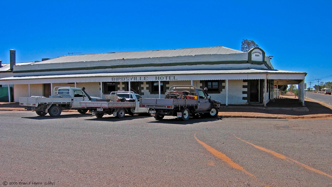 At Birdsville we have a photo of the famous hotel . Great meals also here.