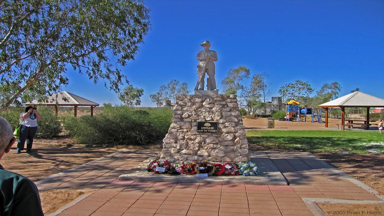 Memorial in Birdsville.