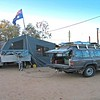 Sully's setup in entrance to Birdsville van park.
