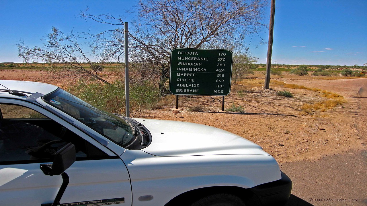 A great sign in Birdsville with all the info.