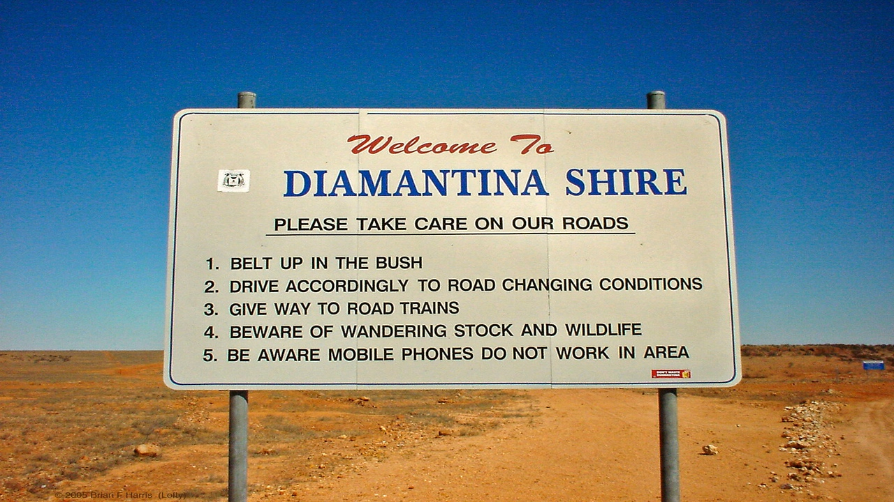 Diamantina Shire in the great Queensland outback.