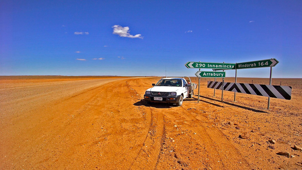 You are here. Innamincka is over the border in N S W  Birdsville straight ahead & to the right.