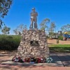 Birdsville. Statue. ANZAC.
