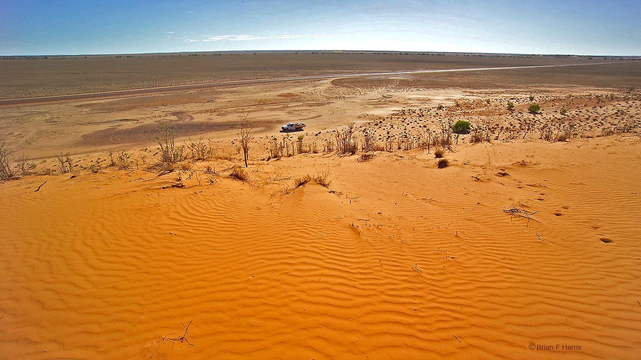 Just out of Windorah. All of a sudden there is this huge sand du