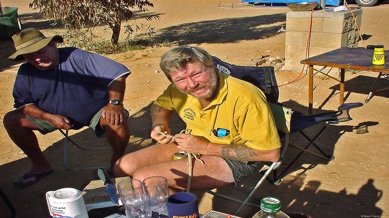 ANZAC's in Birdsville caravan park 2005