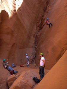Canyoneering, Poison Spring, UT, USA