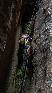 Another abseil that gets steadily narrower as you descend.