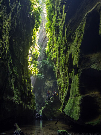 Posing for the classic Claustral Canyon shot.