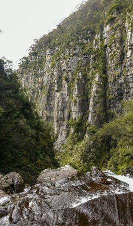 The magnificent walls of the gorge from the top of the second waterfall.
