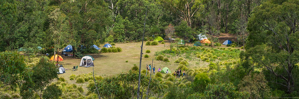 The Deep Pass camp site is pretty busy on the Australia Day weekend.