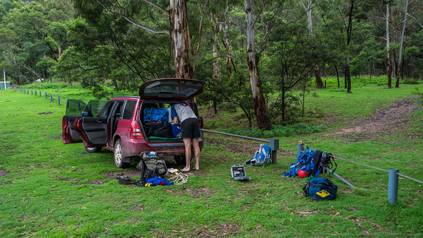 We bags our favourite camp site by parking the car in front of it.