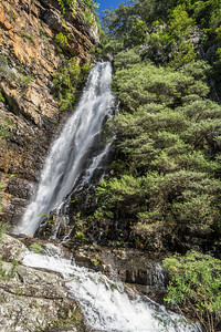 The waterfall next to the fourth abseil.