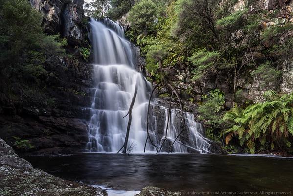 Decent flow over Kalang Falls.