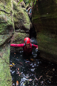 Steve does some underwater bridging.