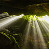 Sunbeams in Claustral Canyon.  Magical!