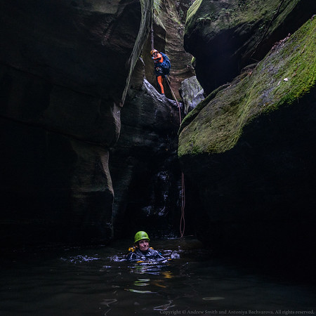 The last abseil from the bottom.