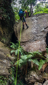 The first abseil in the main creek.