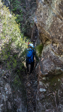 Looking for a pass through the cliff line.