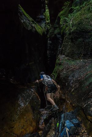 Is it an abseil or a down climb?