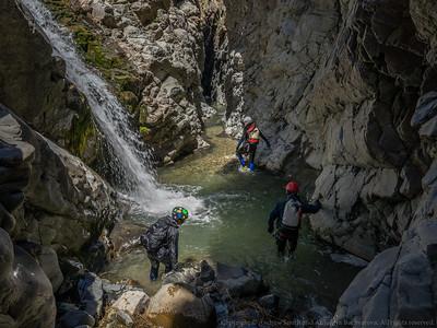 Morgan Stream enters the canyon.