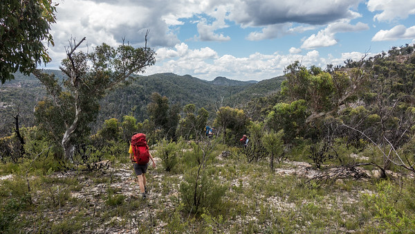 Crossing the tops, getting close to Yarramun.