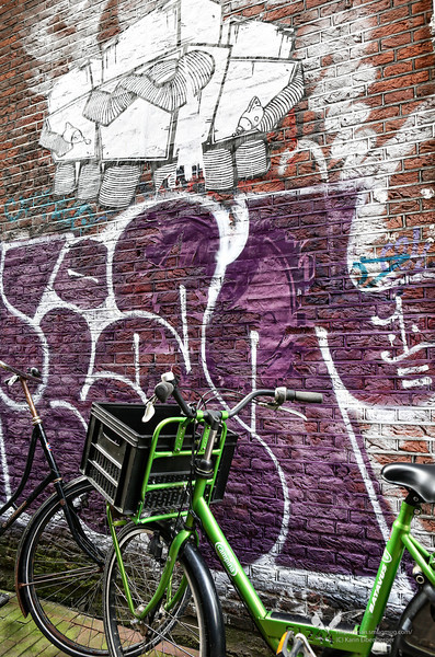 August 2012. A backstreet in the center of Amsterdam.