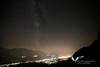 August 2012. A moonless night sky above Hall and Innsbruck as seen from the Hinterhornalm.