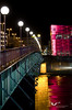 """April 2011. Ars Electronica centre and the """"Nibelungenbrücke""""."""