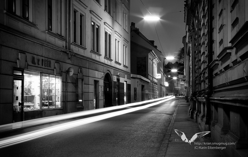 April 2011. A lonely street in the centre.