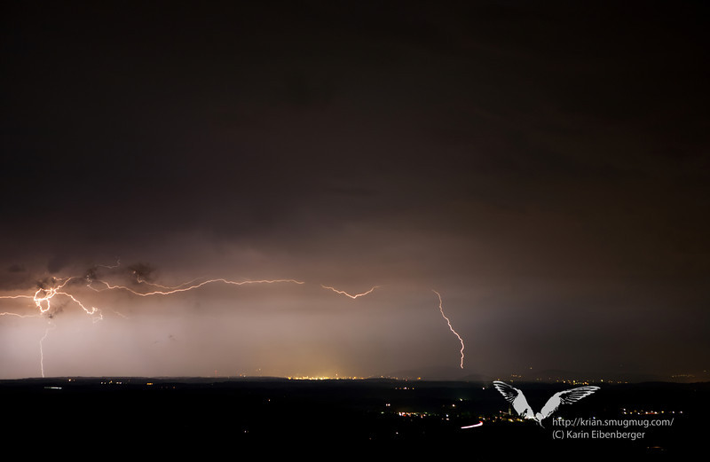 May 2011. A thunderstorm above Linz.