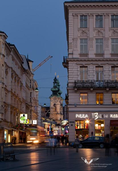 April 2011. Linz city centre.