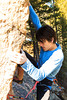 Charles Barron sport leading _______ (5.13d) on the Cube in the Gallatin National Forest.