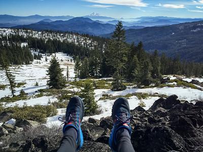 Nike Kigers overlooking Mt Shasta